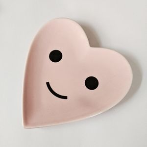 Ban.do Pink Happt Heart Porcelain Jewelry Dish